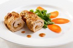 λαχανικά χοιρινού κρέατος μπριζολών Στοκ φωτογραφία με δικαίωμα ελεύθερης χρήσης