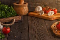 Λαχανικά, χορτάρια, υπόβαθρο καρυκευμάτων Εκλεκτική εστίαση στοκ φωτογραφίες