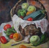 Λαχανικά χώρας, ελαιογραφία Στοκ Εικόνες