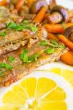 λαχανικά ψαριών λωρίδων Στοκ Εικόνα