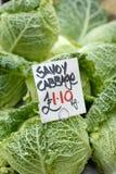 Λαχανικό λάχανων κραμπολάχανου για την πώληση Στοκ φωτογραφίες με δικαίωμα ελεύθερης χρήσης