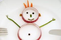 λαχανικό ατόμων πιάτων στοκ εικόνα