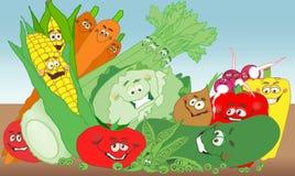 λαχανικό κήπων διασκέδασης διανυσματική απεικόνιση