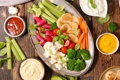 Λαχανικό και εμβυθίσεις Στοκ Εικόνες