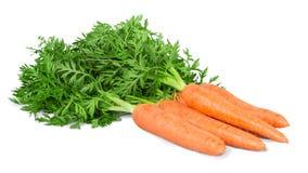 Λαχανικό καρότων με τα φύλλα που απομονώνονται στο λευκό Στοκ φωτογραφίες με δικαίωμα ελεύθερης χρήσης