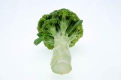 Λαχανικό μπρόκολου που απομονώνεται στο άσπρο υπόβαθρο Στοκ Εικόνα