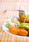 λαχανικό πιάτων δικράνων τρ&omi Στοκ Φωτογραφίες