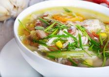 λαχανικό σούπας κοτόπουλου Στοκ Εικόνα