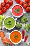 λαχανικό σούπας κρέμας Στοκ Εικόνα