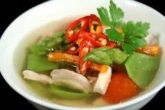 λαχανικό σούπας 2 κοτόπου& Στοκ Φωτογραφίες