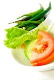 λαχανικό 4 σειρών σαλάτας Στοκ εικόνα με δικαίωμα ελεύθερης χρήσης