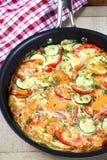 λαχανικό frittata Στοκ Εικόνες