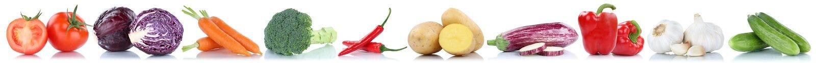 Λαχανικών καρότων φρέσκες ντομάτες πατατών τροφίμων φυτικές cucumb Στοκ Φωτογραφίες