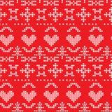 λαϊκά άνευ ραφής snowflakes προτύπων &ka Στοκ φωτογραφία με δικαίωμα ελεύθερης χρήσης
