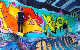 Λαϊκά γκράφιτι τέχνης Στοκ Εικόνες