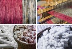 Λαϊκά κλωστοϋφαντουργικά προϊόντα βαμβακιού και ύφανσης βαμβακιού/της Ταϊλάνδης Στοκ Φωτογραφίες