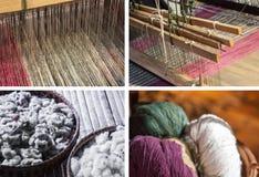 Λαϊκά κλωστοϋφαντουργικά προϊόντα βαμβακιού και ύφανσης βαμβακιού/της Ταϊλάνδης Στοκ Φωτογραφία