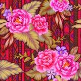 Λαϊκά λουλούδια με το των Αζτέκων υπόβαθρο Στοκ Φωτογραφία