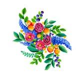 Λαϊκά λουλούδια Στοκ εικόνα με δικαίωμα ελεύθερης χρήσης