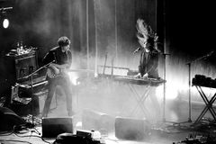 Λαϊκή ζώνη ονείρου σπιτιών παραλιών από τη Βαλτιμόρη στη συναυλία στη σκηνή Apolo Στοκ φωτογραφίες με δικαίωμα ελεύθερης χρήσης