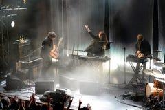 Λαϊκή ζώνη ονείρου σπιτιών παραλιών από τη Βαλτιμόρη στη συναυλία στη σκηνή Apolo Στοκ φωτογραφία με δικαίωμα ελεύθερης χρήσης