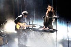 Λαϊκή ζώνη ονείρου σπιτιών παραλιών από τη Βαλτιμόρη στη συναυλία σε Apolo Στοκ εικόνα με δικαίωμα ελεύθερης χρήσης