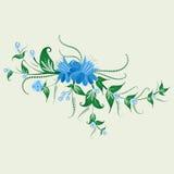 Λαϊκή διακόσμηση λουλουδιών στοκ εικόνες