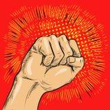 Λαϊκή διανυσματική απεικόνιση τέχνης Χτύπημα ή punching πυγμών απεικόνιση αποθεμάτων