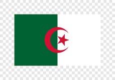 Λαϊκή και λαϊκή Δημοκρατία της Αλγερίας - εθνική σημαία απεικόνιση αποθεμάτων