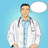 Λαϊκή τέχνη ύφους γιατρών αναδρομική Στοκ Εικόνα