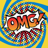 Λαϊκή τέχνη OMG! Σχέδιο κειμένων Στοκ εικόνες με δικαίωμα ελεύθερης χρήσης