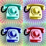 Λαϊκή τηλεφωνική αφίσα τέχνης Στοκ εικόνες με δικαίωμα ελεύθερης χρήσης
