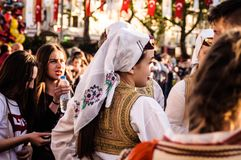 Λαϊκοί χορευτές στην εθνικές κυριαρχία και την ημέρα παιδιών ` s - Τουρκία Στοκ Φωτογραφίες