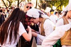 Λαϊκοί χορευτές στην εθνικές κυριαρχία και την ημέρα παιδιών ` s - Τουρκία Στοκ φωτογραφίες με δικαίωμα ελεύθερης χρήσης