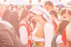 Λαϊκοί χορευτές στην εθνικές κυριαρχία και την ημέρα παιδιών ` s - Τουρκία Στοκ Φωτογραφία
