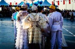 Λαϊκοί χορευτές του Καζάκου στην εθνικές κυριαρχία και την ημέρα παιδιών ` s - Τουρκία Στοκ φωτογραφία με δικαίωμα ελεύθερης χρήσης