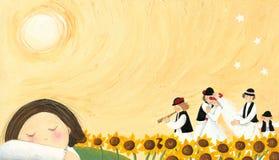 λαϊκός γάμος παράδοσης διανυσματική απεικόνιση