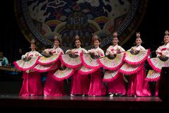λαϊκός κορεατικός νότος χορού Στοκ εικόνες με δικαίωμα ελεύθερης χρήσης