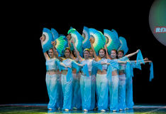 Λαϊκός χορός: Ανεμιστήρας Στοκ Φωτογραφίες