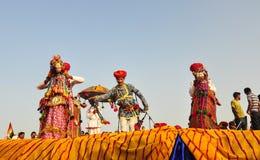 Λαϊκός χορός σε Pushkar, Ινδία στοκ φωτογραφία