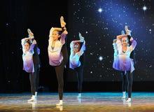 Λαϊκό εκπαιδευτικό μάθημα χορού χορού εκπαιδεύω-βασικό Στοκ Φωτογραφία