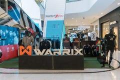 Λαϊκό επάνω κατάστημα Warrix σε Emquatier, Μπανγκόκ, Ταϊλάνδη, στις 3 Νοεμβρίου 2017 Στοκ Φωτογραφία
