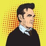 Λαϊκό διάνυσμα πορτρέτου τέχνης Morrissey Στοκ Εικόνες