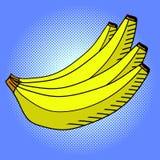 Λαϊκό διάνυσμα τέχνης μπανανών Στοκ φωτογραφία με δικαίωμα ελεύθερης χρήσης