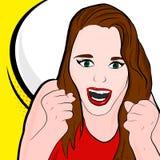 Λαϊκό κορίτσι τέχνης με την ομιλία απεικόνιση αποθεμάτων