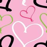 Λαϊκό πρότυπο καρδιών Στοκ εικόνα με δικαίωμα ελεύθερης χρήσης