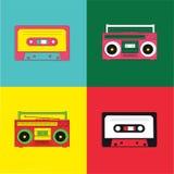λαϊκό ραδιόφωνο κασετών τέχ& διανυσματική απεικόνιση