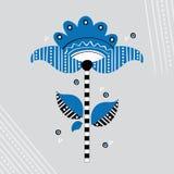 Λαϊκό Σκανδιναβικό λουλούδι ελεύθερη απεικόνιση δικαιώματος