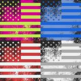Λαϊκό σχέδιο αμερικανικών σημαιών τέχνης διανυσματική απεικόνιση