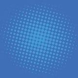 Λαϊκό τέχνης μπλε σημείων κωμικό σχέδιο προτύπων υποβάθρου διανυσματικό Στοκ Εικόνες